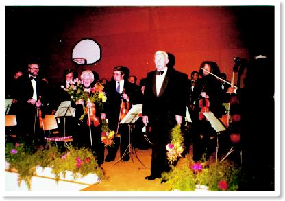 Das Streichorchester unter Leitung von Heinrich Tittus beim Frühjahrskonzert 1980
