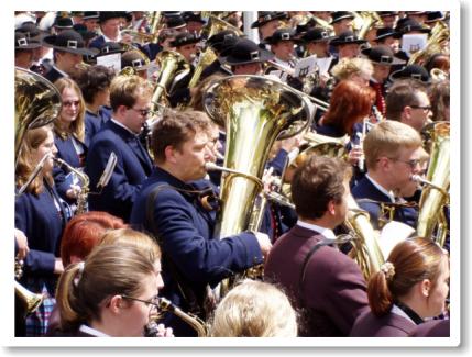 Gesamtchor am Bezirksmusikfest in Senden
