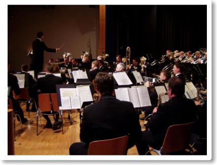 Das Musikkorps der Bundeswehr beim Konzert im Bürgerhaus