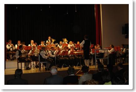 Das Blasorchester beim Konzert in Zistersdorf