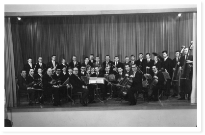 Das Streichorchester in den 60er Jahren